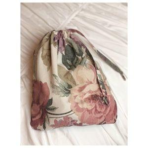 Handbags - Vintage Floral Drawstring Bag Handmade